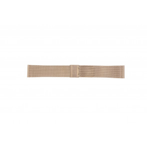 Watch strap Davis B0813 Steel Rosé 22mm
