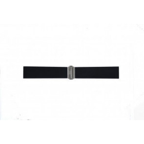 Watch strap Davis BB0881 Rubber Black 22mm