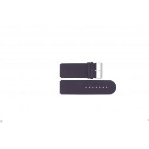 Jacques Lemans watch strap DC218 / PUR Leather Purple 26mm