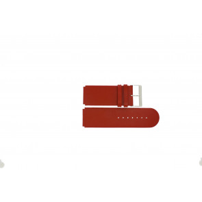 Jacques Lemans watch strap DC-218 / RE Leather Red 26mm