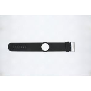 Jacques Lemans watch strap DC500 Leather Black