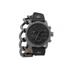 Watch strap Diesel DZ5309 Leather Black 22mm