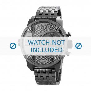 Diesel watch strap DZ7263 Metal Anthracite grey 24mm