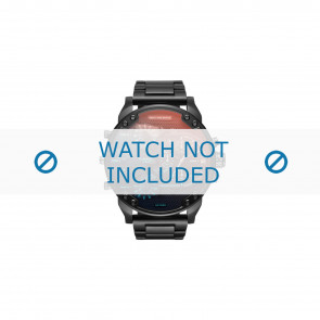 Diesel watch strap DZ7395 Metal Black 28mm