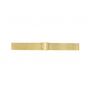 Watch strap Universal MESH-DOUBLE-18MM Steel Gold plated 18mm