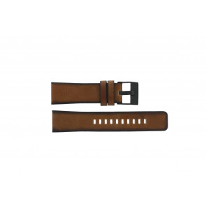 Watch strap Diesel DZ4317 Leather Brown 24mm