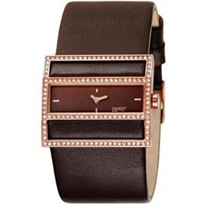 Esprit watch strap ES-103072003 Leather Dark brown 30mm