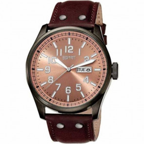 Esprit watch strap ES103151002 Leather Brown 25mm + brown stitching