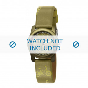 Esprit watch strap ES000FA4-40GR / 000FA4044 Leather Green