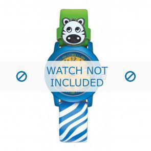 Esprit watch strap ES106414-40BLGR Leather Blue