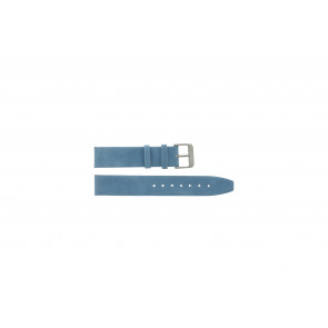 Genuine leather strap saddle blue 26mm G-33