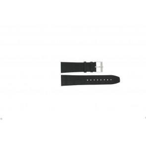 Jacques Lemans watch strap FC29 / 9-201 Leather Black 23mm + black stitching