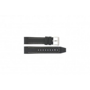 Festina watch strap F16183/40 Leather Black 22mm + white stitching