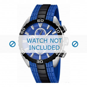 Festina watch strap F16664/6  Rubber / plastic Blue 23mm