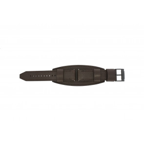 Fossil watch strap JR1365 Leather Dark brown 22mm