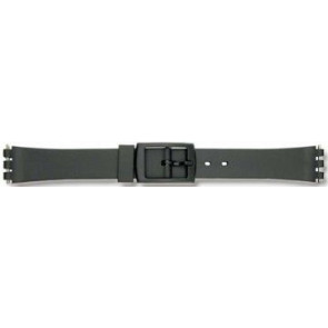 Swatch watch strap P38 Rubber / plastic Black 12mm
