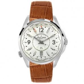 Jacques Lemans watch strap GU200 / G175 Leather Cognac 23mm + brown stitching