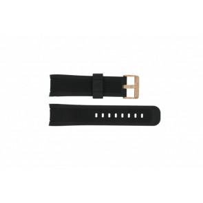 Guess watch strap 35502G1 Rubber Black 24mm