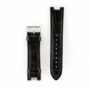 Guess watch strap W11008L2 black leather