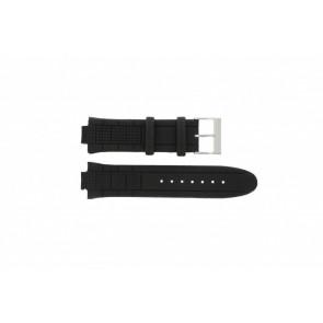 Guess watch strap W17521G2 / U12579G1 / U14002G1 / W19510G1 Leather Black 12mm