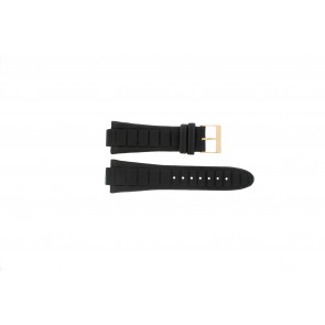 Guess watch strap W14029G1 / W15513G1 Leather Black 14mm