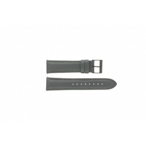 Guess watch strap W18549G2 Leather Grey 22mm