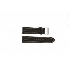 Guess watch strap W95046G2 Leather Brown 24mm