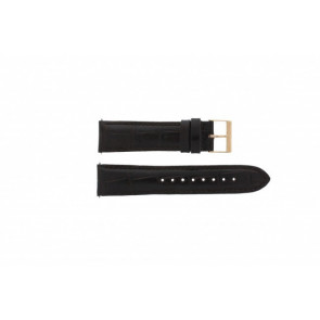Guess watch strap W95086G1 Leather Black 22mm