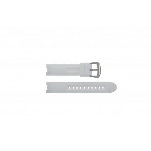 Watch strap BTB.F.R.CH.05 / BTB.F.R.CH.01 Rubber White 19mm