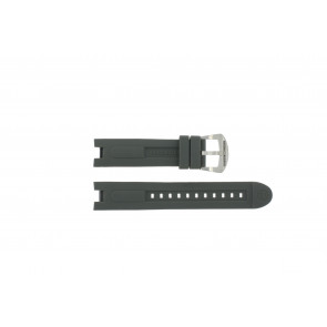 Watch strap BTB.M.D.CH.2.2 Rubber Grey 21mm