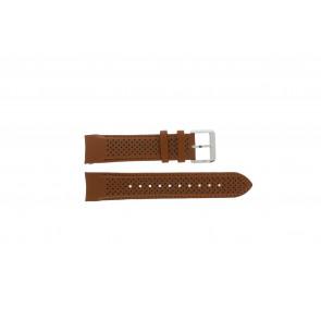 Hugo Boss watch strap HB-188-1-14-2672 / HB1513118 Leather Cognac 22mm + brown stitching