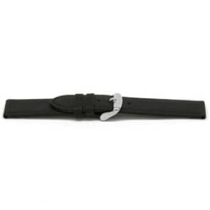 Watch band leather black 16mm EX-E129