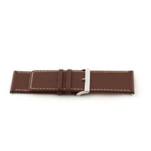 Genuine leather watch strap brown 34mm EX-J43