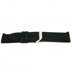 Watch strap Rubber 26mm Black EX K63 26 2 26
