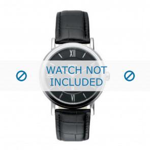 Hugo Boss watch strap HB-24-1-14-2034 / HB1512093 / HB1512092 Leather Black 20mm + black stitching