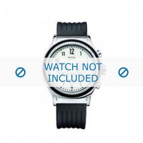 Hugo Boss watch strap HB-54-1-14-2117 / HB1512324 Rubber / plastic Black 22mm