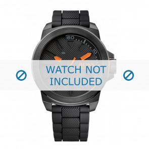 Hugo Boss watch strap HO1513004 / HB-221-1-34-2625 Rubber Black 24mm