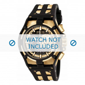 Invicta watch strap 0639.01 Rubber / plastic Black