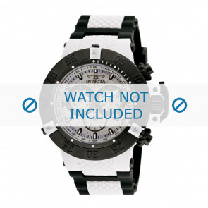 Invicta watch strap 0933 Rubber / plastic White 29mm