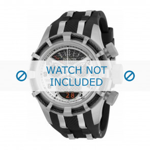 Invicta watch strap 17464 Rubber / plastic Black