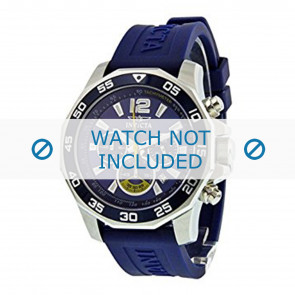Invicta watch strap 7431 Rubber Blue 22mm