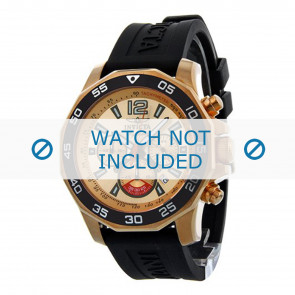 Invicta watch strap 7432 Rubber Black 22mm