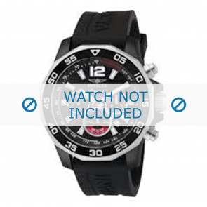 Invicta watch strap 7433 Rubber Black 22mm