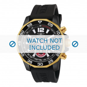 Invicta watch strap 7434 Rubber Black 22mm