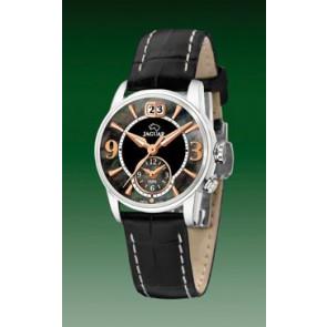 Jaguar watch strap J624-5 Leather Black 16mm + white stitching