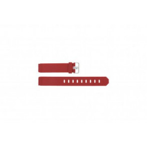 Watch strap Jacob Jensen 751 SERIE Rubber Red 17mm