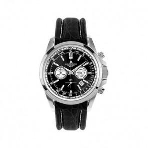 Watch strap Jacob Jensen 1-1117AN Leather Black 22mm
