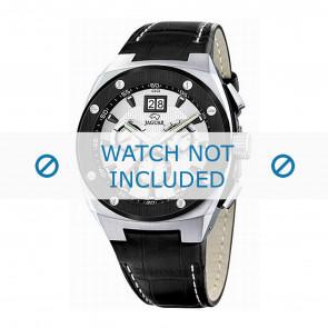 Jaguar watch strap J620/1 Leather Black 16mm + white stitching