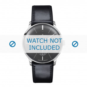 Junghans watch strap 027/3503.00 Leather Black 20mm + standard stitching