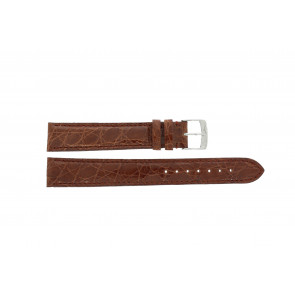 Morellato watch strap Amadeus XL G.Croc Gl K0518052041CR18 / PMK041AMADEU18 Crocodile skin Brown 18mm + standard stitching